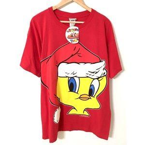 Vintage 90's Christmas Tweety Shirt